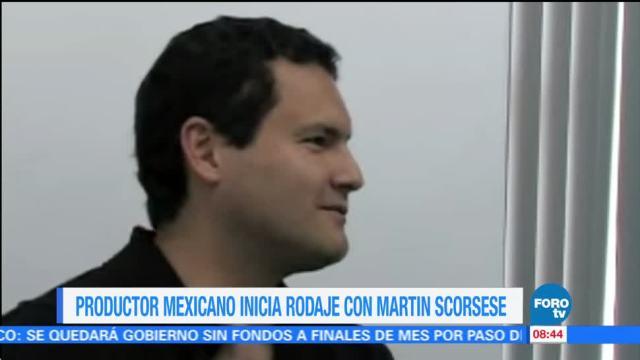 Productor mexicano inicia rodaje con Martin Scorsese