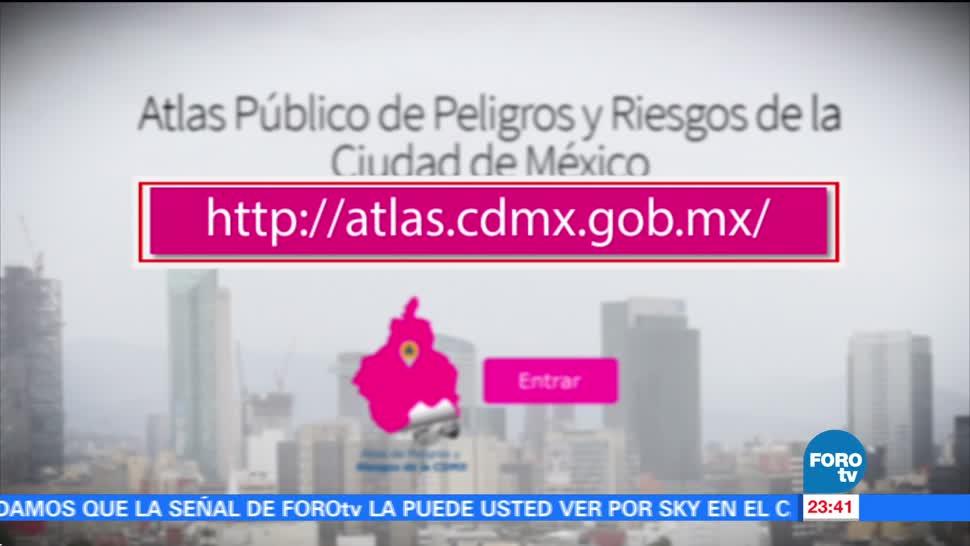 Presentan actualización de Atlas de Riesgos de la CDMX