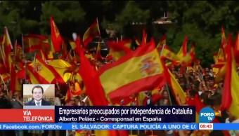 Empresarios Encuentran Preocupados Independencia Cataluña