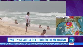 Tormenta 'Nate' se aleja de costas mexicanas