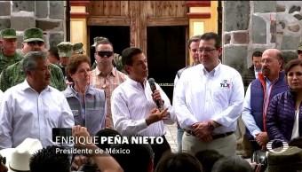 Reportan al presidente daño al patrimonio cultural por sismos