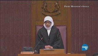 Halimah Yacob, la primera presidenta de Singapur