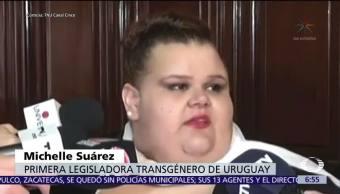Michelle Suárez es la primera legisladora transexual de Uruguay