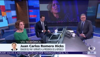 Romero Hicks pide a Ricardo Anaya que defina si busca la Presidencia