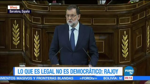 Puigdemont anunció la victoria antes de contar los votos: Rajoy
