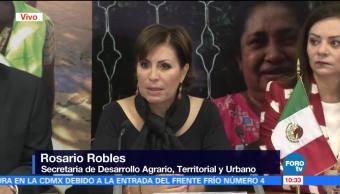Autoconstrucción tras sismos promueve participación ciudadana, afirma Rosario Robles