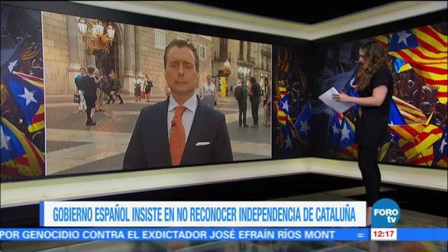 Gobierno español insiste en no reconocer independencia de Cataluña
