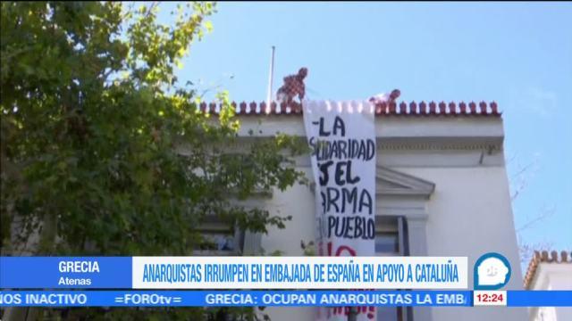 Anarquistas griegos apoyan la independencia de Cataluña
