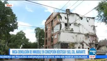 Topógrafos analizan el edificio Concepción Béistegui 1503 para iniciar demolición