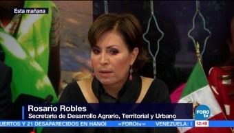 Rosario Robles presenta acciones para la reconstrucción tras sismos