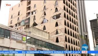 Continúan trabajos de demolición de edificios colapsados en la CDMX