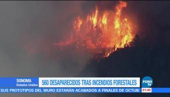 Reportan cientos de desaparecidos tras incendios en California