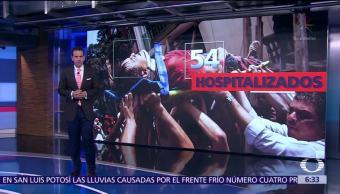 Siguen hospitalizados 54 lesionados por sismo del 19S en México