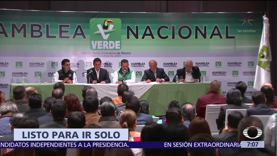 Partido Verde considera ir solo a las elecciones federales del 2018