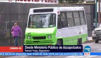 Asaltan microbús en delegación Azcapotzalco