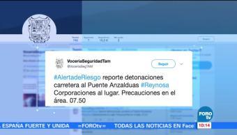 Emiten alerta de riesgo en Reynosa, Tamaulipas
