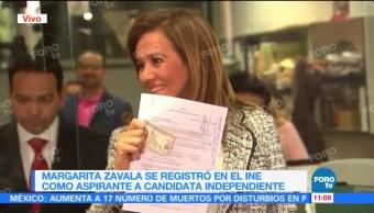 Margarita Zavala se registra como aspirante a candidatura presidencial independiente