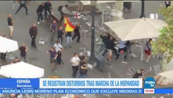 Se registran disturbios tras marcha del Día de la Hispanidad