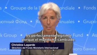 Directora del FMI apoya la modernización del TLCAN