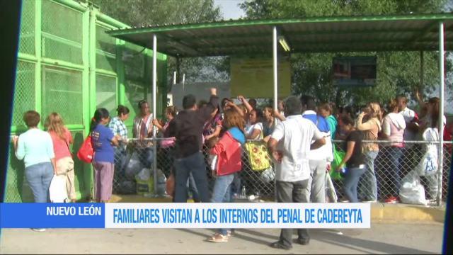 Familiares de reos visitan Penal de Cadereyta