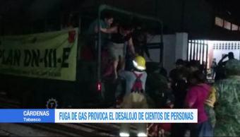 Desalojan 330 familias en Tabasco por fuga de gas en toma clandestina