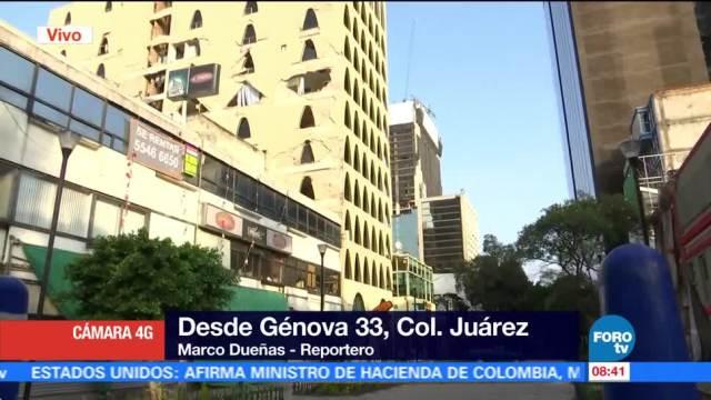 Proceso de demolición en Génova 33 en la colonia Juárez