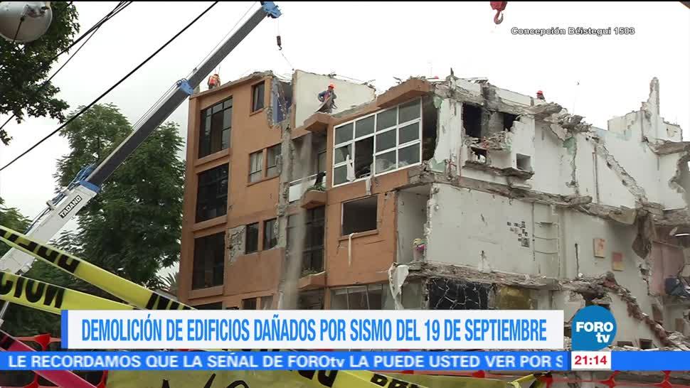 Demolición de edificios dañados en la CDMX por sismo 19 de septiembre