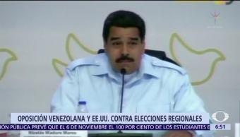 Oposición de Venezuela rechaza diálogo con el gobierno de Nicolás Maduro
