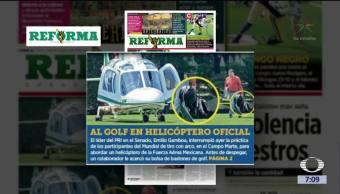 Reforma expone a Emilio Gamboa por uso de helicóptero del Estado Mayor