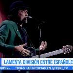 Joaquín Sabina cuestiona división entre españoles