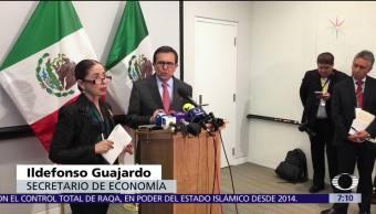 Guajardo reitera postura de México para renegociar el TLCAN y lograr acuerdo