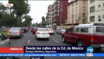 Calzada de Tlalpan presenta tráfico por transporte público
