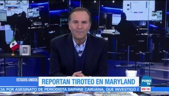 Reportan tiroteo en zona industrial de Maryland, EU