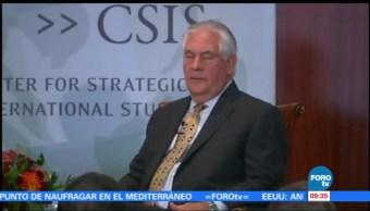 Rex Tillerson habla sobre relaciones estratégicas