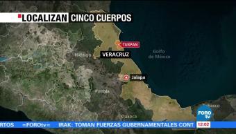 Localizan los cuerpos de 5 hombres en Tuxpan, Veracruz