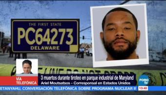 Tiroteo en un complejo de oficinas deja tres muertos en Maryland