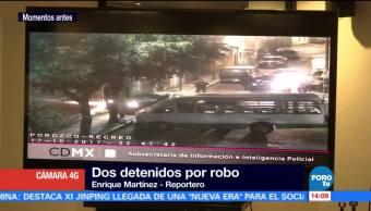 Detienen a dos colombianos por robo a casa habitación