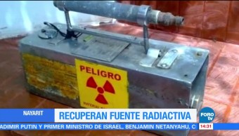 Encuentran fuente radiactiva robada en Nayarit