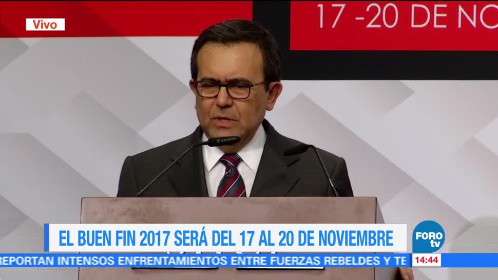'El Buen Fin 2017' será del 17 al 20 de noviembre: Guajardo