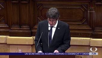 Vence plazo del Gobierno español a Puigdemont para aclarar situación de Cataluña