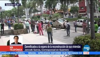 Damnificados del sismo del 7S en Guerrero esperan reconstrucción de viviendas