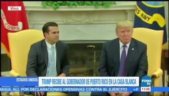 Trump recibe al gobernador de Puerto Rico en la Casa Blanca