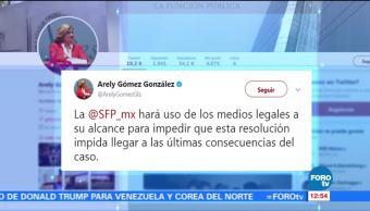SFP recurrirá suspensión otorgada en el caso Odebrecht