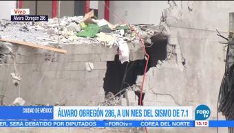 Álvaro Obregón 286, a un mes del sismo