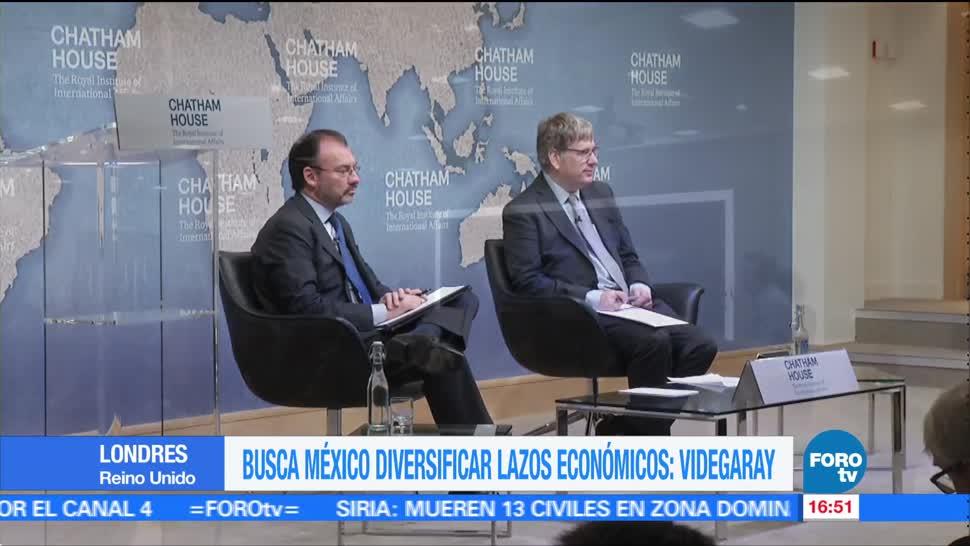 México por estrechar lazos económicos con Reino Unido: Videgaray