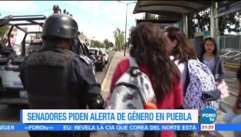 Senadores piden alerta de género en Puebla