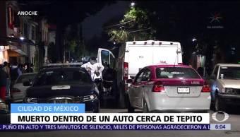 Ejecutan a hombre dentro de auto en delegación Venustiano Carranza, CDMX