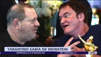 Quentin Tarantino admite que sabía de los abusos que cometía Harvey Weinstein