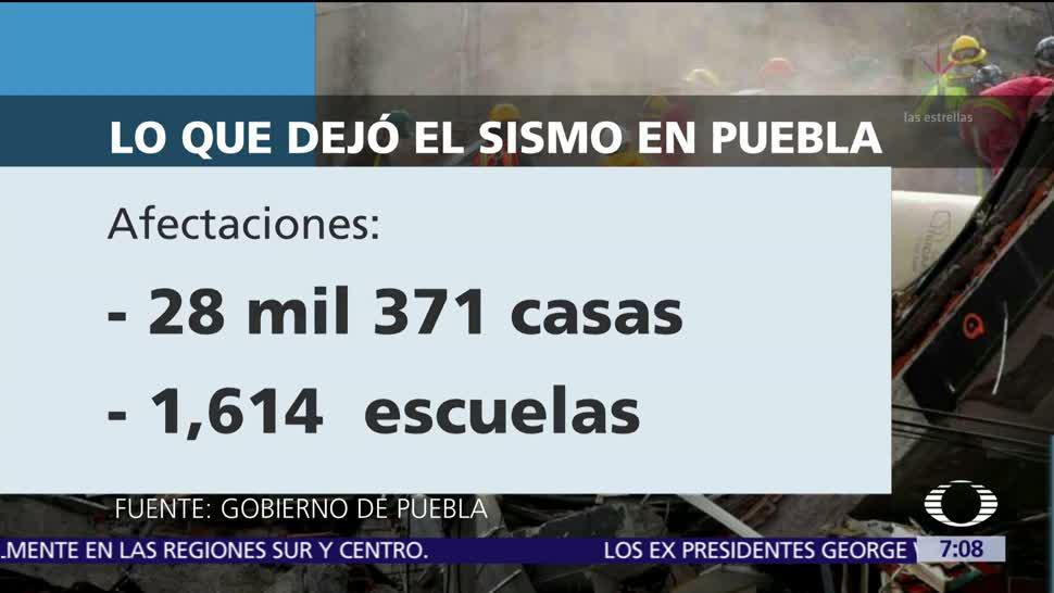 Daños por sismo 19S en Puebla ascienden a 5 mil mdp