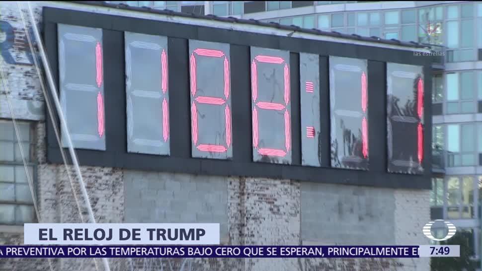 Reloj lleva cuenta regresiva de los días de Trump en Casa Blanca